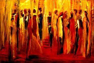 Waiting to Dance. Oil. 34x26 RNoel