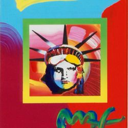 LIBERTY HEAD BY PETER MAX ZOOM